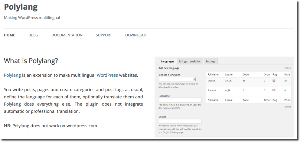 Polylang-Wordpress-Translation-Plugin