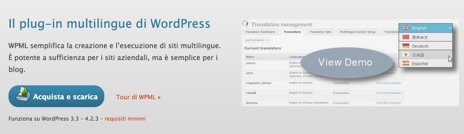 WPML - Il plug-in multilingue di WordPress